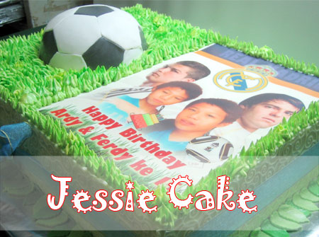 Soccer Cake with Edible Image