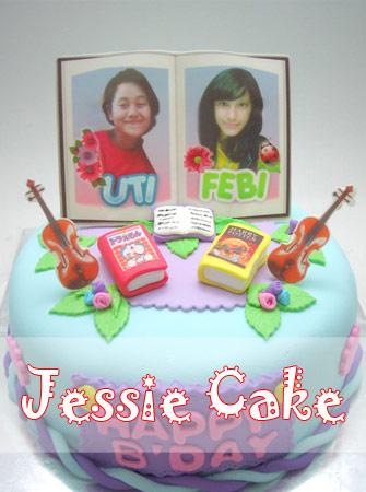Cake for Book & Violin Lover