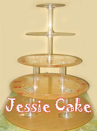 Tier Cupcakes 5 tingkat - Acrylic