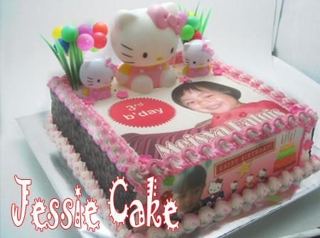 Photocake with Hellokitty & Chococake
