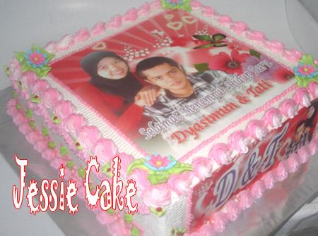 Photocake for Djasimun &  Tati with Blackforestcake