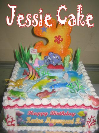 Birthdaycake for Marina 24x24cm